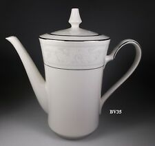 """NORITAKE TRUDY 7087 COFFEE POT WITH LID  7"""" - MINT"""