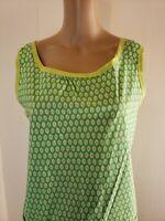 Homemade Women's Button Size Medium Snap Front Apron Green  XL Ovals Waist Pocke