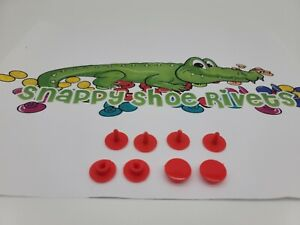 4 RED RIVETS,FASTENER,BUTTON, NEW (FAST SHIP)  fits CROCS