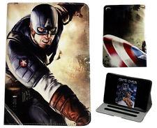 """Per iPad Pro 9.7"""" 2017 Marvel Captain America Stand Custodia Cover Sonno Veglia"""