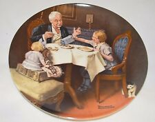 "* New * Norman Rockwell Plate ""The Gourmet"" Coa & Box 1985 (5, Pl2)"