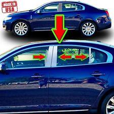 Chrome Pillar Trim for Lincoln MKS 09-18 (Keyless) 6pc Set Door Cover Post