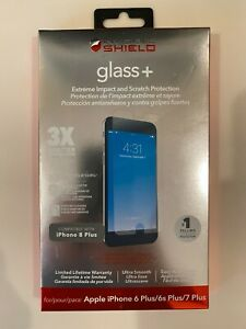 100% Authentic ZAGG Glass + Invisible Shield Screen Protector iPhone 6+, 6s+, 7+
