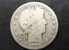 1906-S Barber Half Dollar Silver U.S. Coin A2401