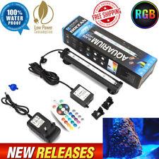 LED Fish Tank Light Bubble Submersible 5050 RGB Waterproof 48 Bar Strip Lamp KIt