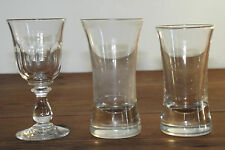 07a11 lot 3 old small glass bistro 1900 big cul facet glass blowing bar