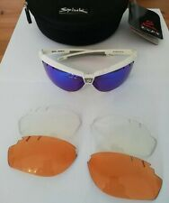 Spiuk Zelerix Cycling Sunglasses White - 2 Extra Lenses - Cases Included NEW