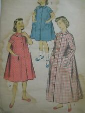 Vintage 1950's Advance 7804 HOUSECOAT or DUSTER Sewing Pattern Girl Child 8