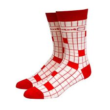Hypnotic Socks 90's Gridded Men's Nerdy Math-Themed Novelty Socks