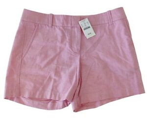 J. Crew City Fit Women's Powdered Oxford Pink Casual Summer Short Shorts Size 0