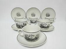 Antiguo Set de Cafe/te porcelana Ibero Tanagra China Opaca Santander Años 50