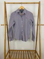 Lauren Ralph Lauren Women's RLL Non-Iron Striped Button Front Shirt Size S