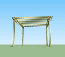 Pergola in legno 4x3 gazebo in pino impregnato in autoclave facile da costruire