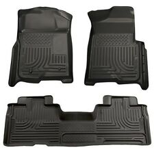 2009-2013 Ford F-150 Husky Black WeatherBeater Front & 2nd Row Floor Liners Mat