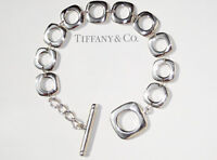 Tiffany & Co Sterling Silver Cushion Toggle Bracelet