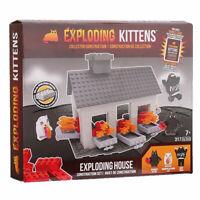Exploding Kittens Scene Set - Exploding House construction + BONUS CARD
