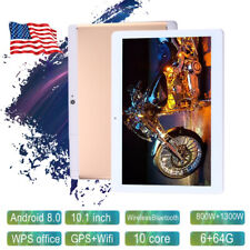 10.1'' For Android 8.0 Ten Core HD Game Tablet Computer PC GPS Wifi Dual Camera