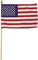 "3 Pack Mini US Stick Flag 4"" x 6"" on Pole USA American Small"