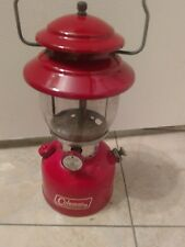 VINTAGE COLEMAN RED LANTERN 200A NICE old camping