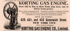 1888 A AD KORTING GAS ENGINE CO 130 IN USE IN NEW YORK CITY