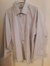 Geoffrey Beene Mens sz XXL 2XL 18 34/35 Gray Check wrinkle free LS Shirt