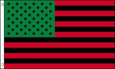 USA Afro American US Flag 3x5' African American Black Lives Matter Red Green A++