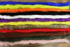 12 INCH LONG LENGTH OF RABBIT FUR/ ZONKER STRIPS FOR FLY TYING-CHOICE OF COLOURS