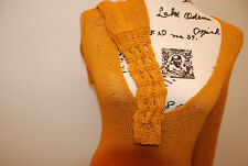 ITALY Designer top PAOLA FRANI knitted sweater blouse Orange color stretch