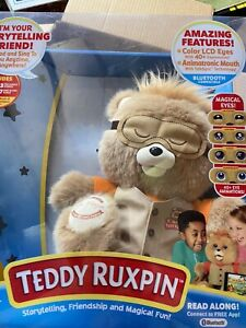 2017 Teddy Ruxpin Animated Talking Storytime Bear Bluetooth LED Eyes