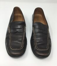 Geox Respira Brown Stitch Comfort Loafers Casual Work Slip-On Shoes (UK 4) EU 37