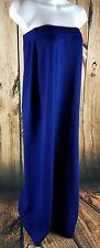 ST.JOHN EVENING PARTY DRESS By Marie Gray Strapless Size 6 Blue Made in USA