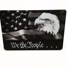 WE THE PEOPLE FLAG EAGLE ALUMINUM BILLET HITCH PLUG COVER 4 X 6