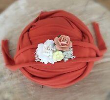 Brick Soft Cotton Jersey Stretchy Wrap Headband Set Baby Newborn Photo Prop