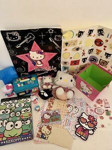Sanrio Hello Kitty Keroppi Chococat Badtz Maru Toy Stationary Plush Stickets Lot