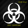 Biohazard Hazard Symbol Vinyl Sticker Window Decal | Zombies Toxic Warning 156