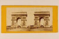 Parigi ARCO Da Triomphe Da L Stella Francia Foto Stereo Vintage Albumina c1870