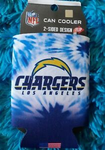 NFL LOS ANGELES LA CHARGERS 2 sided design CAN COOLER HOLDER Coozie