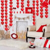 Valentine's Day Party Love Heart Swirl Hanging Ceiling Decorations 30pack