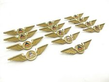 Lot Of 13: Vintage Delta Airlines Stoffel Seals Gold Pilot Wings Hat Lapel Pin