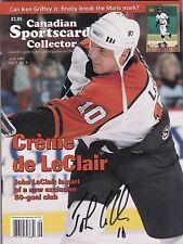 John LeClair Philadelphia Flyers Autographed Canadian Sportscard Mag W/COA '97 A