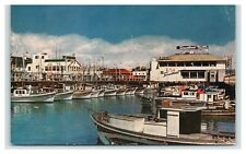 Vintage Postcard San Francisco CA Fishermans Warf Boats Tarantinos Restaurant