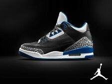 Jordan 3 III Sport Blue New Nike Black White Grey Nike Men Size 10.5