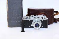 Rare Zorki-1 VINTAGE USSR Copy Leica Film Camera w/s lens industar-22 EXCELLENT