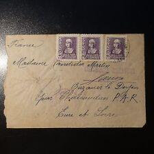 ESPAGNE LETTRE CENSURE MILITAIRE CENSOR COVER POUR CHATEAUDUN 1939