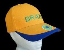 Brazil Brazilian Brasil Embroidered Baseball Hats Caps Casquette Chapeau