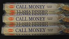CALL MONEY 3 Boxes of 20 = 60 HEM Incense Sticks Bulk Fragrance ~ India