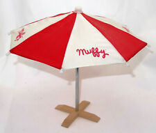 "1989 NABCO Muffy VanderBear At the Beach umbrella with stand 11"" wide"