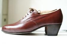 True vintage elegante zapatos caballero zapatos imaginería 41 marrón 70er ungetragen!