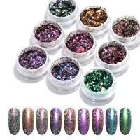 Holographic Nail Glitter Powder Bling Chameleon Holographic Chrome Pigment Dust
