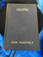 World War I-Gallipoli -hb by John Masefield-pub Macmillan co. 1 st ed Illustra.